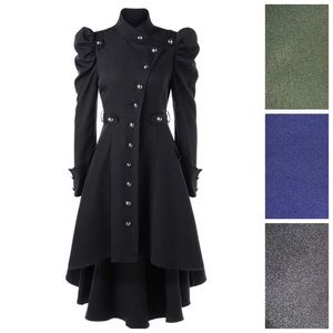 Dresses & Skirts - 🆕 Military Button Asymmetrical High Low Dress